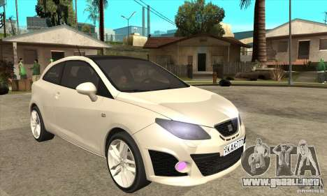 Seat Ibiza Cupra 2009 para GTA San Andreas vista hacia atrás