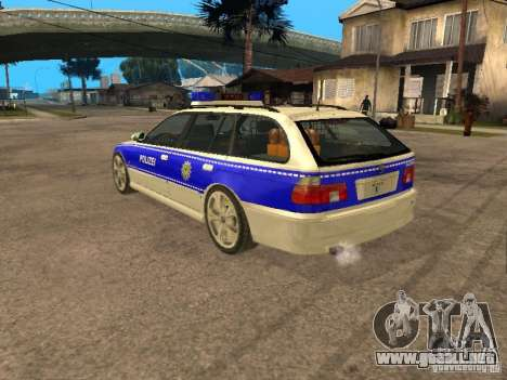 BMW 525i Touring Police para GTA San Andreas left