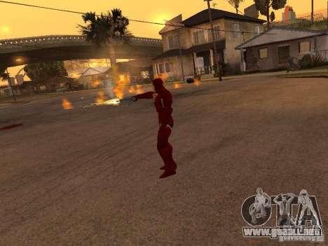 Iron Man para GTA San Andreas sucesivamente de pantalla