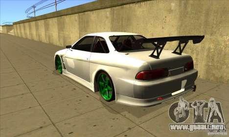 Toyota Soarer para GTA San Andreas vista posterior izquierda