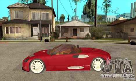 Spyker C8 Spyder para GTA San Andreas left
