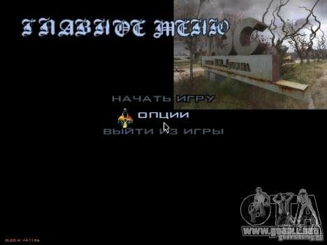 Menú principal-style Stalker para GTA San Andreas