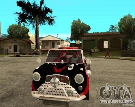 MiniCooper Tuning HOVADO 1 (MaxiPervers.cz) v.2 para GTA San Andreas vista hacia atrás