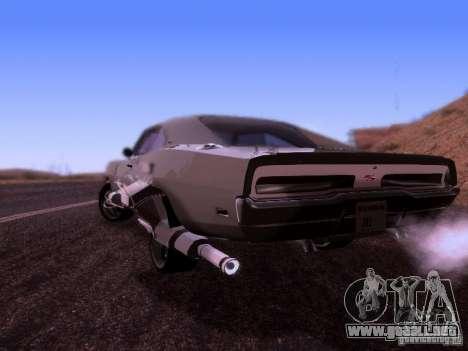 Dodge Charger 1970 Fast Five para GTA San Andreas left