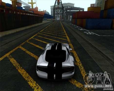 Dodge Viper SRT 2013 para GTA San Andreas vista posterior izquierda