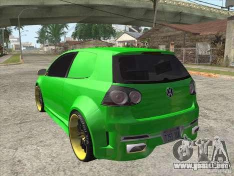 Volkswagen Golf V R32 Custom para GTA San Andreas left
