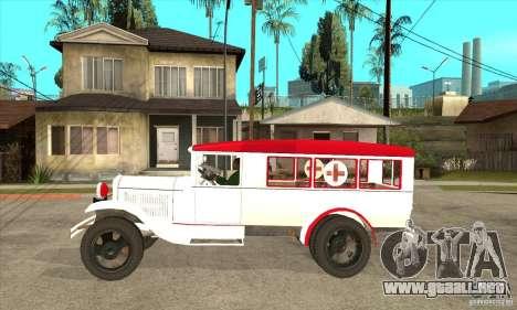Ambulancia GAZ AA para GTA San Andreas left