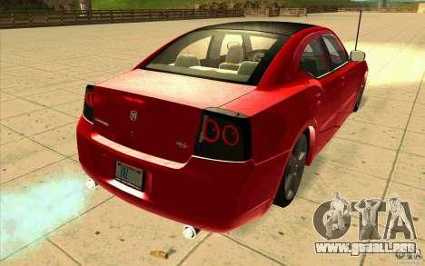 Dodge Charger RT 2010 para GTA San Andreas vista posterior izquierda