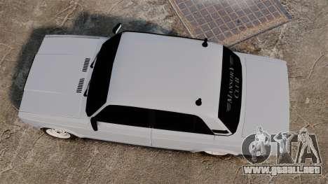 VAZ-2107 Mansory para GTA 4 visión correcta