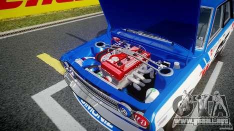 Datsun Bluebird 510 1971 BRE para GTA 4 vista superior