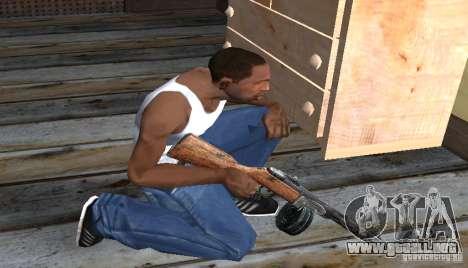 PPSH-41 para GTA San Andreas tercera pantalla