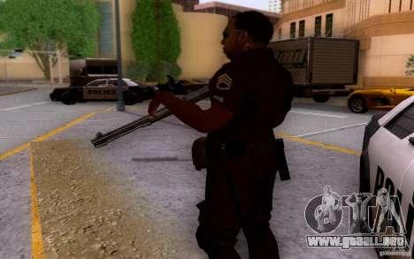 Un oficial de policía de bacalao: BO2 para GTA San Andreas sucesivamente de pantalla