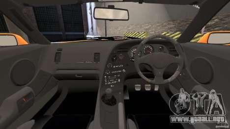 Toyota Supra Tuning para GTA 4 vista hacia atrás