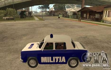 Dacia 1100 Militie para GTA San Andreas left