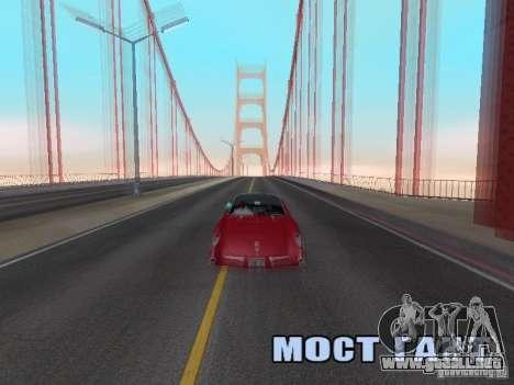Camera Shake para GTA San Andreas tercera pantalla