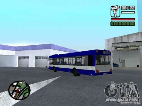 Solaris Urbino 12 para GTA San Andreas vista posterior izquierda