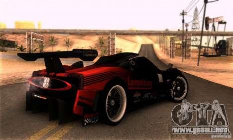 Pagani Zonda R para GTA San Andreas left
