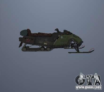 Motos de nieve para GTA San Andreas left