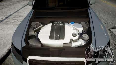 Audi A6 TDI 3.0 para GTA 4 vista hacia atrás
