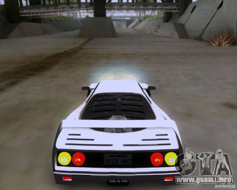 Ferrari F40 para GTA San Andreas left