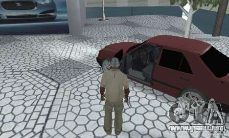Mercedes-Benz 200D para GTA San Andreas vista hacia atrás