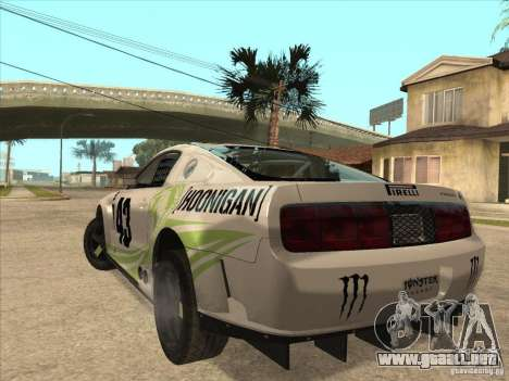 Ford Mustang Ken Block para GTA San Andreas left