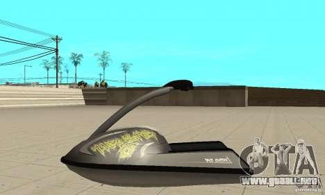 Moto de agua para GTA San Andreas vista hacia atrás
