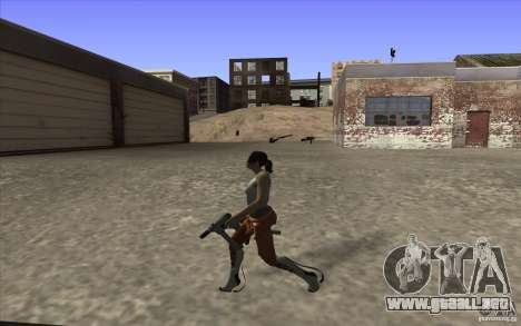 Chell from Portal 2 para GTA San Andreas sucesivamente de pantalla