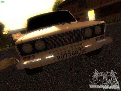 VAZ 2106 Tuning luz para visión interna GTA San Andreas