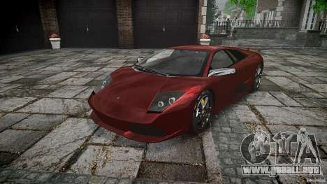 Lamborghini Murcielago v1.0b para GTA 4 vista hacia atrás