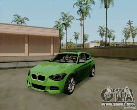 BMW M135i V1.0 2013 para GTA San Andreas left