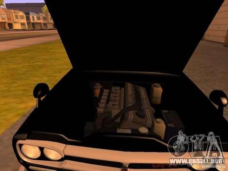 Nissan Skyline 2000GTR para GTA San Andreas vista hacia atrás