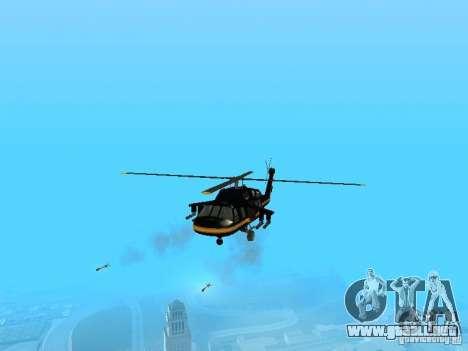 GTA 4 Annihilator editable para GTA San Andreas vista posterior izquierda