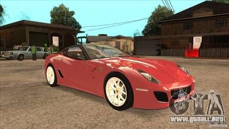 Ferrari 599 GTO 2010 V1.0 para GTA San Andreas vista hacia atrás