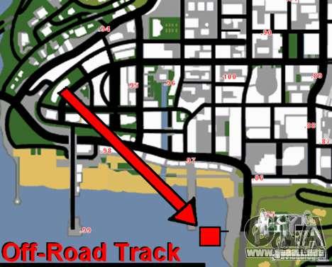 Off-Road Track para GTA San Andreas quinta pantalla