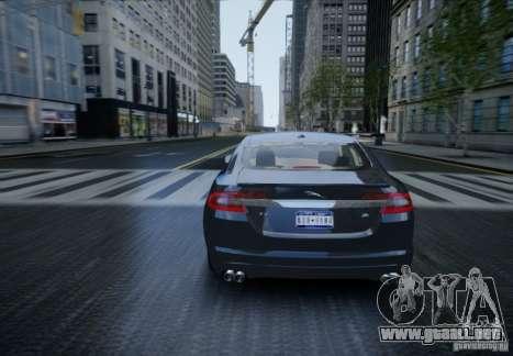 Jaguar XFR 2010 V.2.0 para GTA 4 vista interior