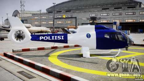 Eurocopter EC 130 Finnish Police para GTA 4 vista interior