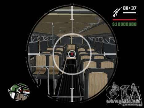 Ikarus 630 para GTA San Andreas vista hacia atrás