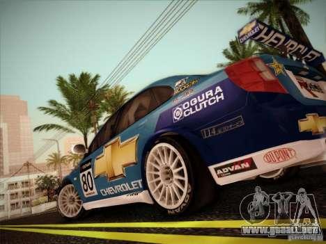 Chevrolet Lacetti WTCC v2 para la visión correcta GTA San Andreas