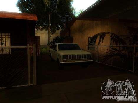 New Car in Grove Street para GTA San Andreas quinta pantalla