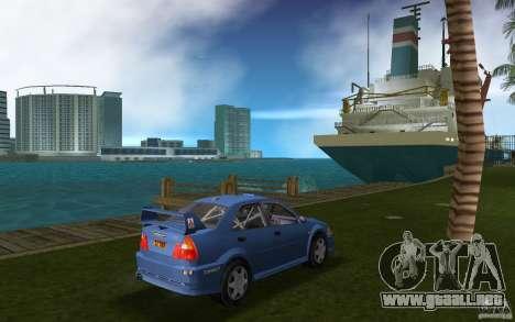 Mitsubishi Lancer Evo VI para GTA Vice City visión correcta