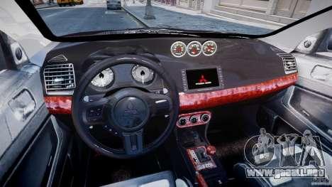 Mitsubishi Lancer X para GTA 4 visión correcta