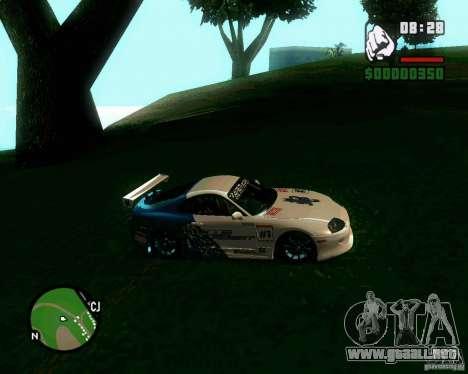 Toyota Supra for B-Day para GTA San Andreas vista posterior izquierda