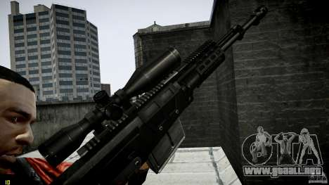 Accuracy International AS50 para GTA 4 adelante de pantalla
