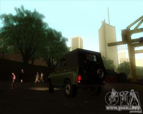 UAZ 31512 militar para GTA San Andreas left