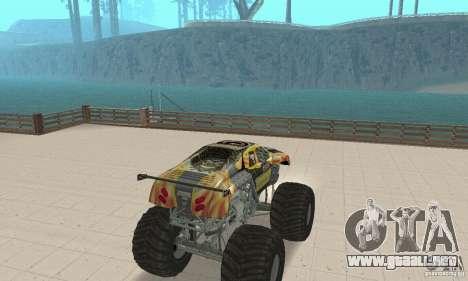 Monster Truck Maximum Destruction para GTA San Andreas left