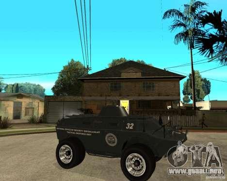 La APC de GTA IV para la visión correcta GTA San Andreas