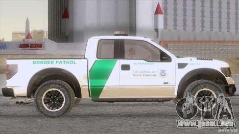Ford Raptor para la visión correcta GTA San Andreas
