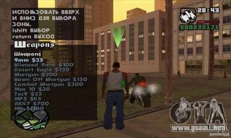 Gun Seller para GTA San Andreas sexta pantalla