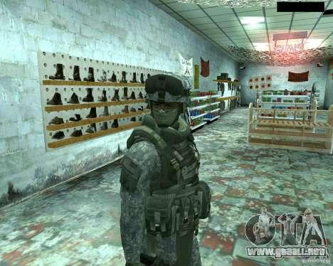 Soldado de infantería piel CoD MW 2 para GTA San Andreas sexta pantalla